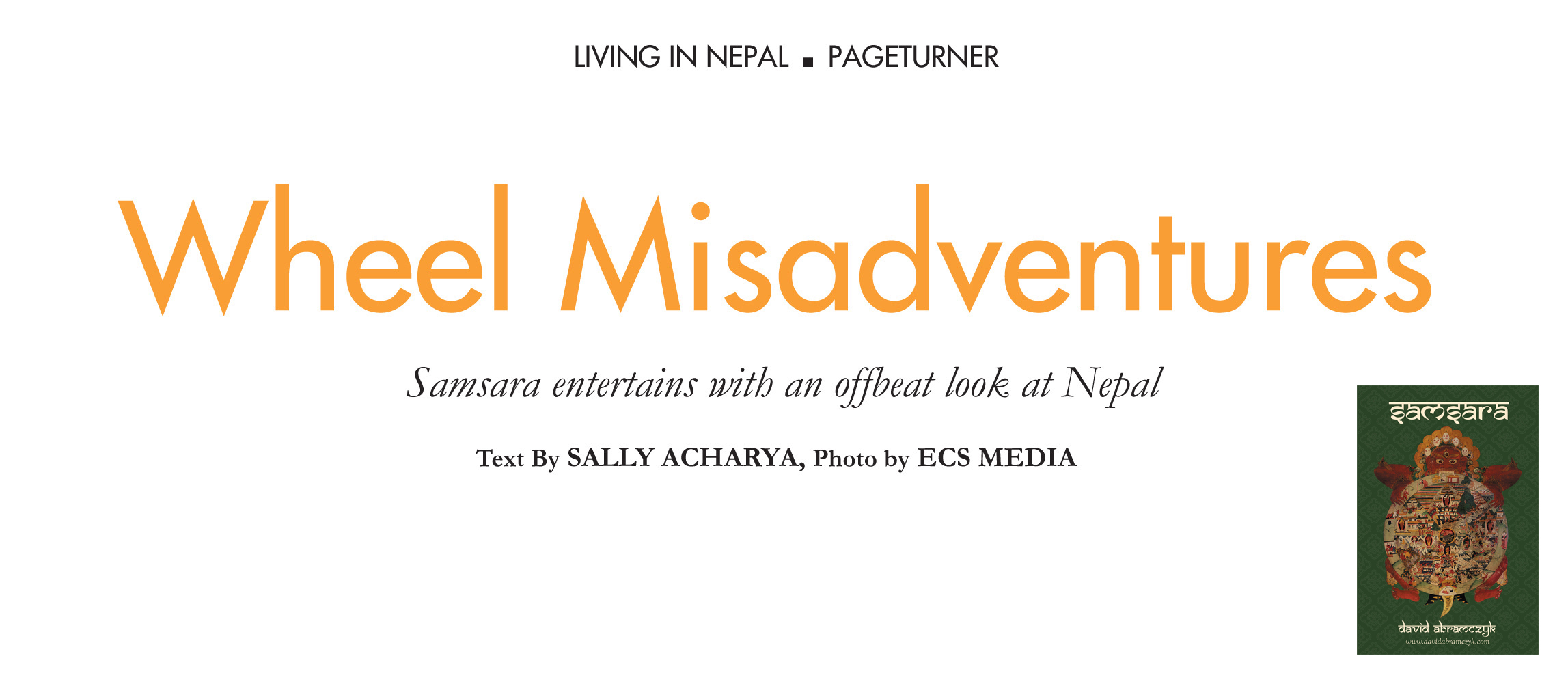 """Wheel Misadventures"" as featured in ECS Nepal Magazine"