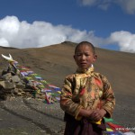 Young Pilgrim en route to Shey Gompa Festival